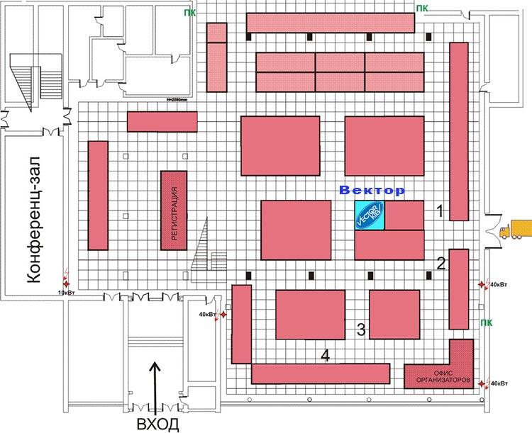 """Место расположения стенда компании """"Вектор"""" Киев на выставке «AISS-AutomaticA-2011»20–22 ноября в Киеве"""