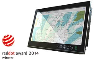 Новая серия MOXA ECDIS 24 дюймовых панельных компьютеров MPC-2240 получила почетную награду Red Dot Product Design Award 2014